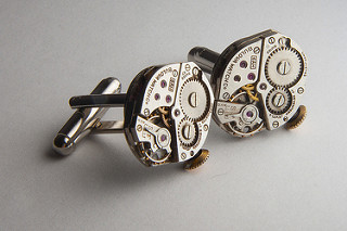 Bulova Watch Cufflinks - Attribution: Andrew Magill (Flickr) - Original Photo