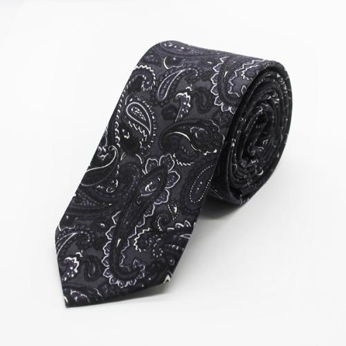 Grayscale Paisley Tie