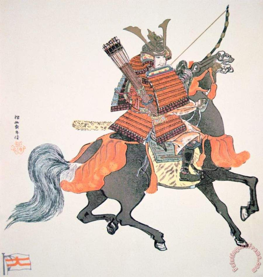 Samurai Painting by Japanese School; Samurai Art Print for sale